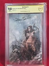 CBCS 9.8 RED SONJA #4 COMIC - LUCIO PARRILLO AUTOGRAPHED - VIRGIN COVER