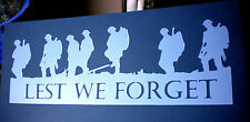 high detail airbrush stencil lest we forget  FREE UK POSTAGE