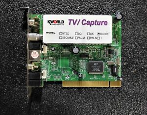 KWorld VS-TV878RF PCI TV Tuner/Video Capture Card BG+DK Conexant Fusion 878A