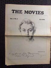 1970s THE MOVIES #1 Memory Lane Whizzbang VG 4.0 Tabloid Magazine