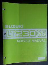 Service Shop Repair Manual Suzuki 1985 LT230GE LT 230 GE S670