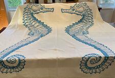 Thomas Paul seahorse shower curtain 100% cotton blue standard size
