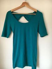 Top Shop Jade Stretch Cotton Size 10 Bow Detail At Back Dress <T5956