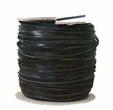 Lederflechtband Känguruleder schwarz, Länge 50 m, Breite ca. 3 mm, Stärke ca. 1,
