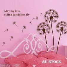"NEW~""Dandelion"" Removable Family Home Decor DIY Vinyl Wall Stickers Decal Art"