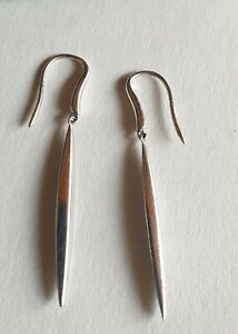 Tiffany & Co. 18k 750 white gold Feather earrings. 100% genuine