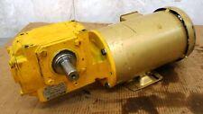BALDOR SUPER E MOTOR, CEM3554, 1.5 HP, HUB CITY REDUCER, 0250-56450, 11.42:1