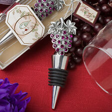75 Vineyard Wine Bottle Stopper Grapes Bridal Wedding Party Event Favor Lot