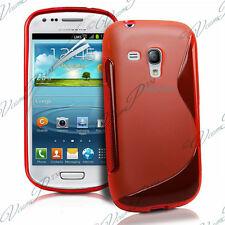 ACCESSOIRES HOUSSE ETUI COQUE SILICONE GEL S ROUGE Samsung Galaxy S3 mini i8190