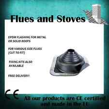 DEKTITE flat & pitched roof Flashing for 5 inch to 8inch stove flue pipe (05)