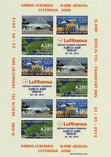 "VIGNETTE AERIENNE ND ""Airbus A380 Lufthansa - Vol Baptême Berlin-Frankfurt"" 2012"