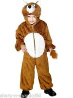 Fantastic Girls Boys Brown Fox Animal Book Day Fancy Dress Up Costume Outfit