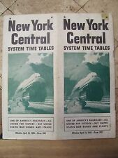 NEW YORK CENTRAL RAILROAD PUBLIC TIMETABLE APRIL 18,1943-EXCELLENT CONDITION