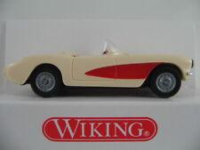 Wiking 81901 chevrolet corvette c1 Convert. (1956) en crème/rouge 1:87/h0 Nouveau/Neuf dans sa boîte