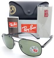 NEW Rayban Sunglasses Aviator RB3593 002/9A 58 Classic G-15 Polarized AUTHENTIC