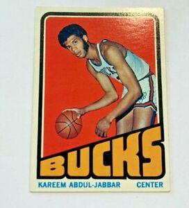 1972-73 TOPPS #100 KAREEM ABDUL-JABBAR BUCKS SHARP CARD