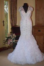 Ronald Joyce Lace Cap Sleeve Wedding Dresses