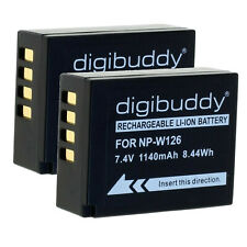 2 batería np-w126s patonas para Platinum 1140mah para Fuji Fujifilm cámara finepix x-t30