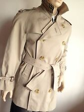 BURBERRY MENS M MEDIUM 38-40 CHEST SHORT VINTAGE TRENCH COAT RAINCOAT MAC