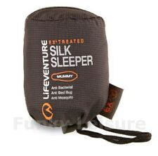 Lifeventure 100% Silk Sleeping Bag Mummy Liner EX3 Treated