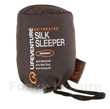 Lifeventure 100% Silk Sleeping Bag Mummy Liner EX3 Treated