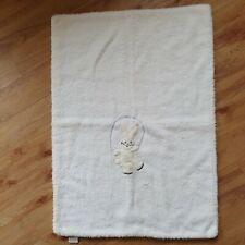 Kamella Vintage Pram Blanket Blankie Comforter Baby Bunny Rabbit Soft Nylon