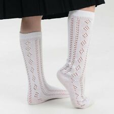 b5e684a2143 NEW 3 PAIRS GIRLS WHITE PELERINES SOCKS LONG BACK TO SCHOOL PELERINE KNEE  HIGH