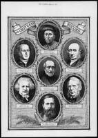 1872 Antique Print Portraits - Obituary Record Campbell Dixon Talbot   (150)