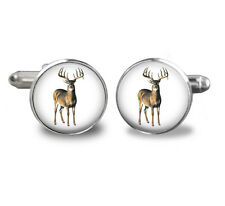 DEER cufflinks-Father-cuff links-mens,birthday,gift,jewelry,hunting,black