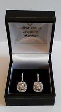 18CT WHITE GOLD DIAMOND CLUSTER drop suds round baguette gemstones sparkle shine