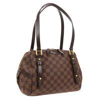 LOUIS VUITTON RIVINGTON PM SHOULDER BAG FL4170 DAMIER EBENE N41157 AUTH 01282