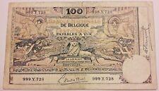Belgium, 100 Francs, 1920, FR (14-20) Belgïe, Belgique 1898 Montald