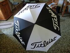 "Titleist  Golf 60"" Umbrella, BLACK/WHITE 41"" High Single Canopy"
