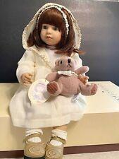 Zapf Creation Designer Collection Linda Ltd Ed 2001 Doll w/Bear & Hang Tag-Nib