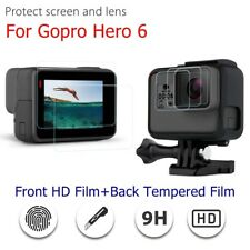 2pcs/Set For Gopro Hero 6 LCD HD Front Film+Back Tempered Glass Screen Protector