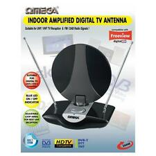 Omega 24446 Antena de TV UHF Interior Amplificado Antena FM Radio DAB digital Freeview
