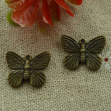 free ship 280 pcs Antique bronze butterfly charms 19x14mm #2557