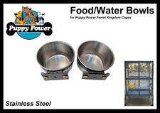 FERRET & RAT KINGDOM - EXTRA FOOD/WATER BOWLS, STAINLESS STEEL (SET OF 2)