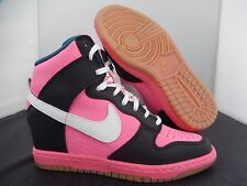 WMNS NIKE DUNK SKY HI HIGH ID PINK-WHITE-BLACK SZ 5.5 [747283-991]