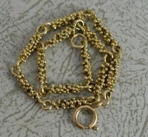 "Vintage 9 Carat Yellow Gold 8"" Long Bubble Ball Link Bracelet"
