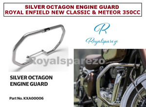SILVER OCTAGON ENGINE GUARD ROYAL ENFIELD NEW CLASSIC & METEOR 350