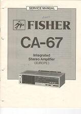 FISHER Service Manual Anleitung CA-67  B1461