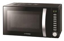VYTRONIX Digital Freestanding Microwave Oven 800W 20L 5 Power Levels Black