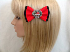 Jurassic Park hair bow clip rockabilly pin up girl geek dinosaur t rex red black