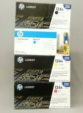 HP Q6000A K Q6001A C Q6002A Y Q6003A M Toner Cartridge 124A New Sealed Lot of 4