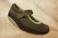MBT Brown Nubuck Leather Mary Jane Strap Toning Walkng Shoes Womens Size 8 US