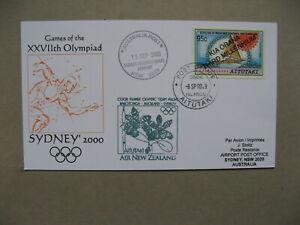 AITUTAKI, card spec flight Olympic Team 2000, Olympic Games Sydney, orchid