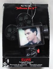 ELVIS MOVIE PROJECTOR MUSICAL ORNAMENT Christmas Lights Jailhouse Rock Roll NEW
