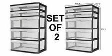 File Cabinet Storage Organizer 5 Drawer Large Heavy Duty Plastic Garage Office