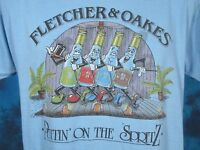 vintage 80s FLETCHER & OAKES SPRITZ LIQUOR PAPER THIN T-Shirt M cartoon beer